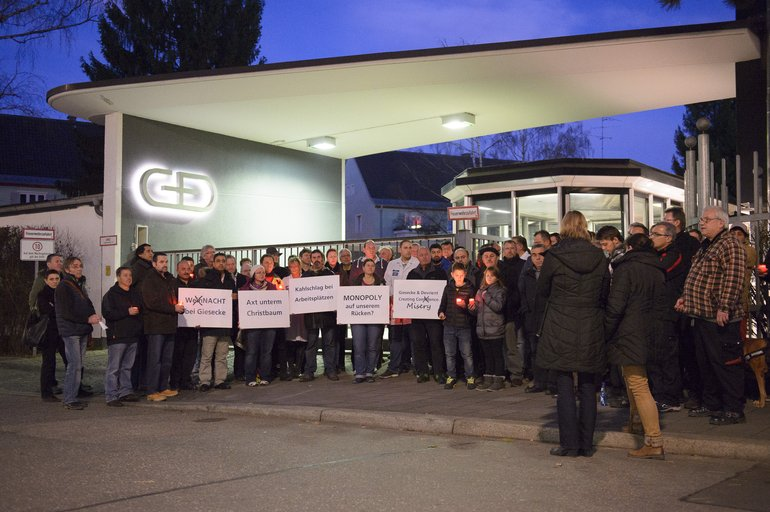 G&D Protestaktion 23.12.2013